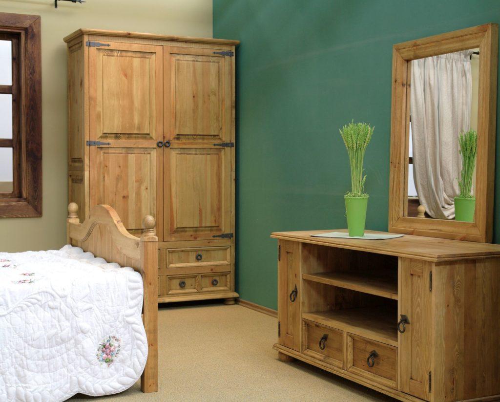Aranżacja sypialni rustykalnej