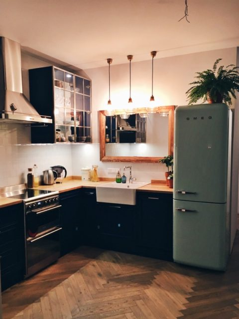 Kuchnia drewniana industrialna