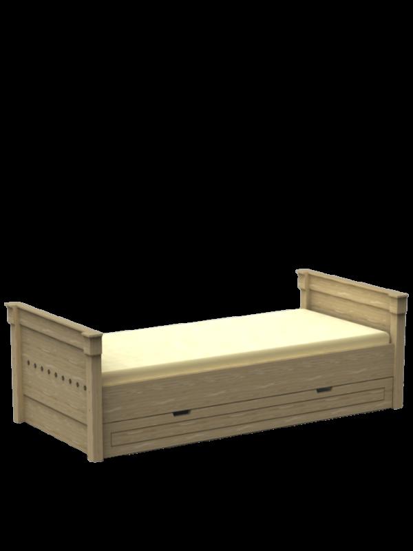 Łóżko ze skrzynią