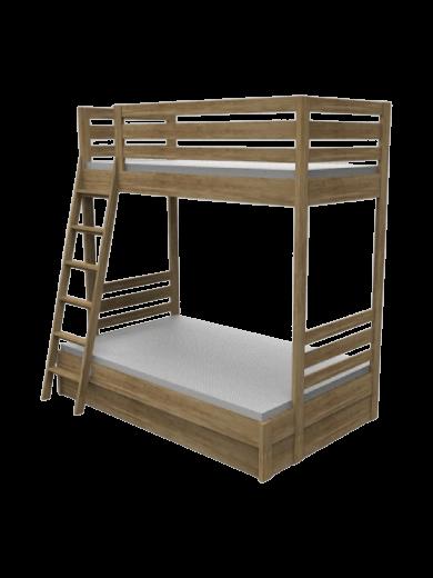 Łóżko ze skrzynią piętrowe