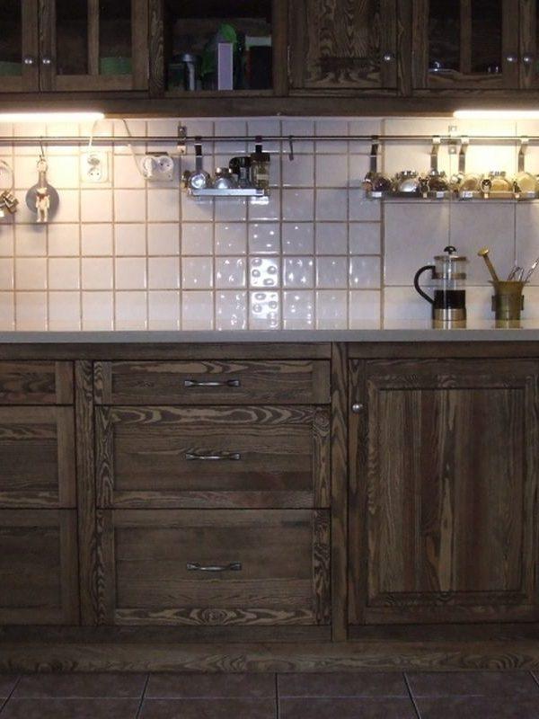 Kuchnia drewniana olejowana rustykalna