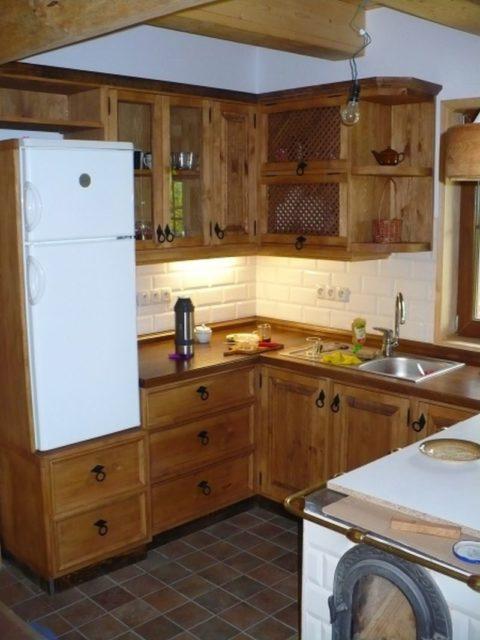 Kuchnia drewniana rustykalna