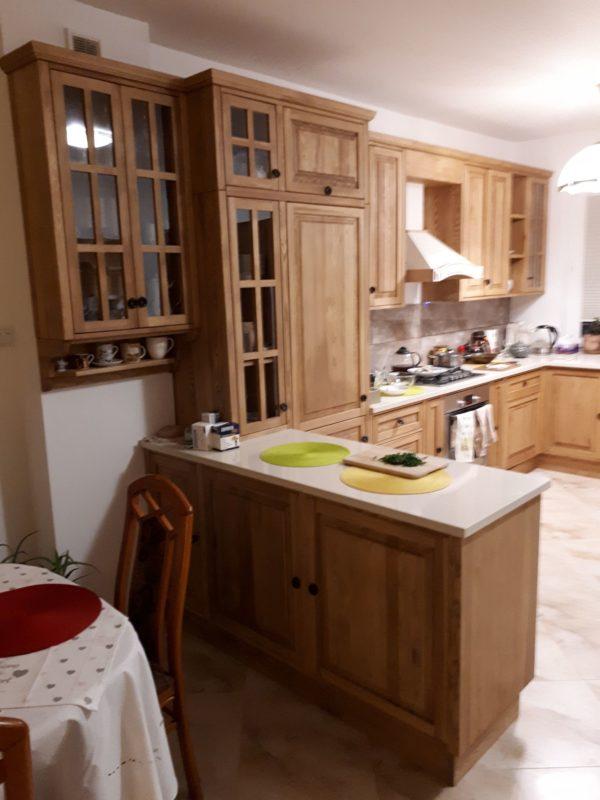 Kuchnia drewniana rustykalna wiejska