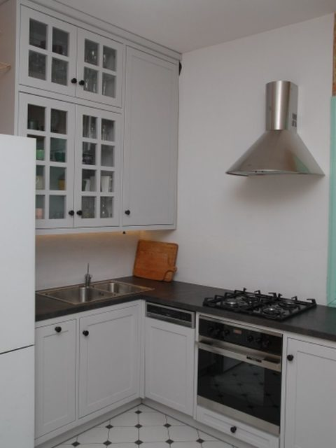 Kuchnia drewniana skandynawska szara