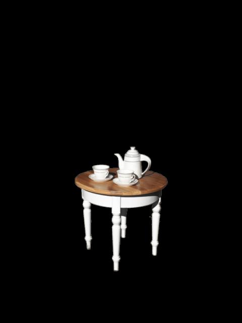 Stolik biały dębowy