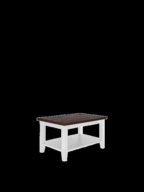 Stolik biały z blatem dębowy