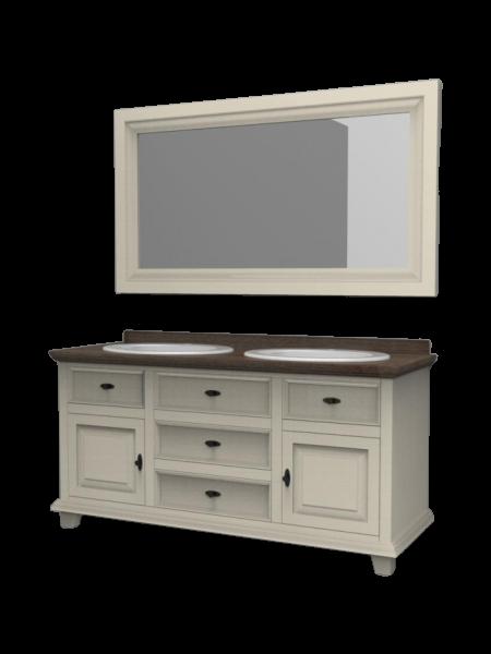 Stylizowana szafka łazienkowa z lustrem