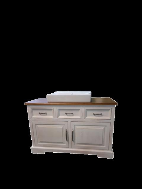 Szafka łazienkowa pod umywalkę Biała przecierana