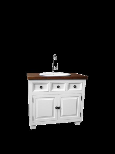 Szafka umywalkowa biała
