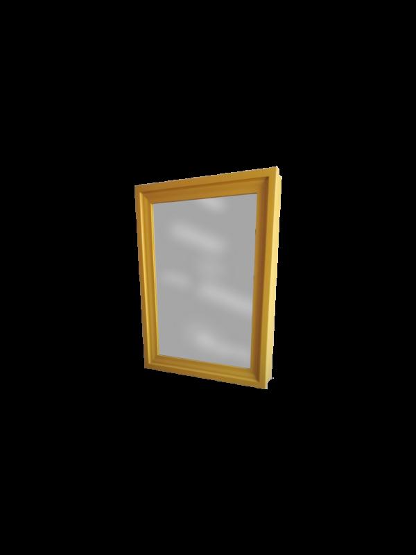 Szafka z lustrem wisząca żółta