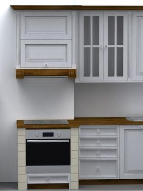 Kuchnia drewniana White