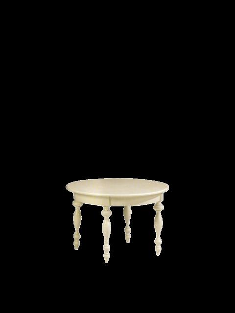Stolik okrągły malowany